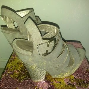 Charlotte Russe | Grey Strappy Wedge